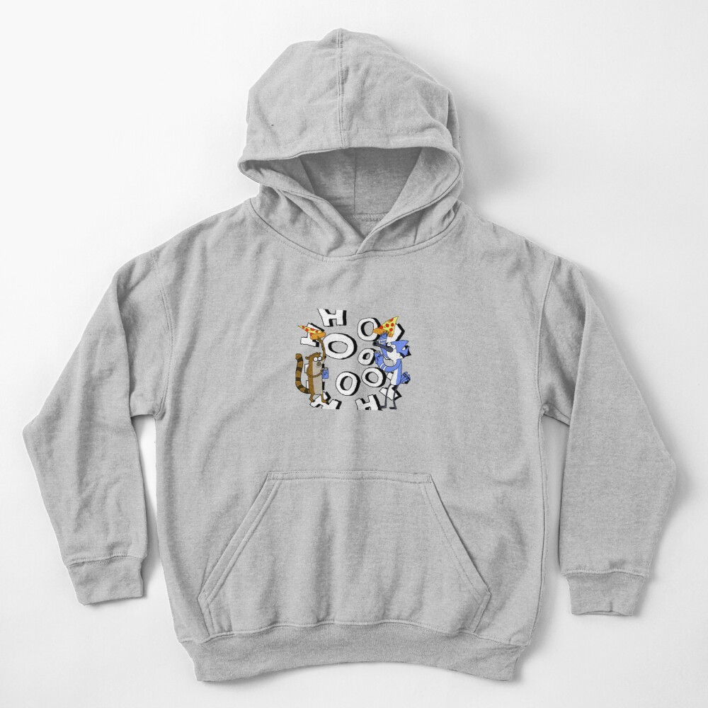 Pizza and Soda/Mordecai and Rigby Kids Pullover Hoodie