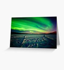 Beach Lake Aurora Greeting Card