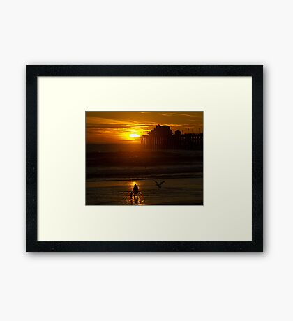Mother and Child at Sunset Framed Print