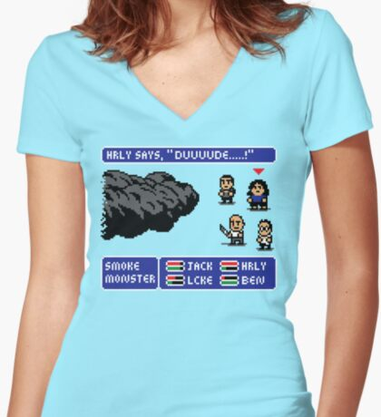 LOST FANTASY Women's Fitted V-Neck T-Shirt