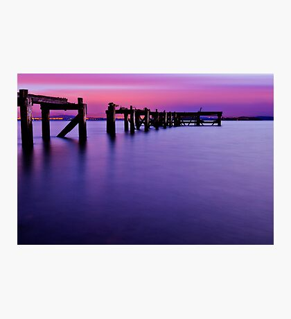 Aberdour Pier...The Blue Hour ( Please View Larger ) Photographic Print
