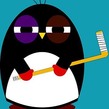 Hockey penguin by jaxxx