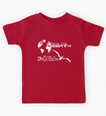 Save the Earth; Ride a Dragon Kids Tee