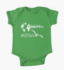 Save the Earth; Ride a Dragon One Piece - Short Sleeve