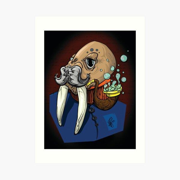 Captain Walrus Art Print