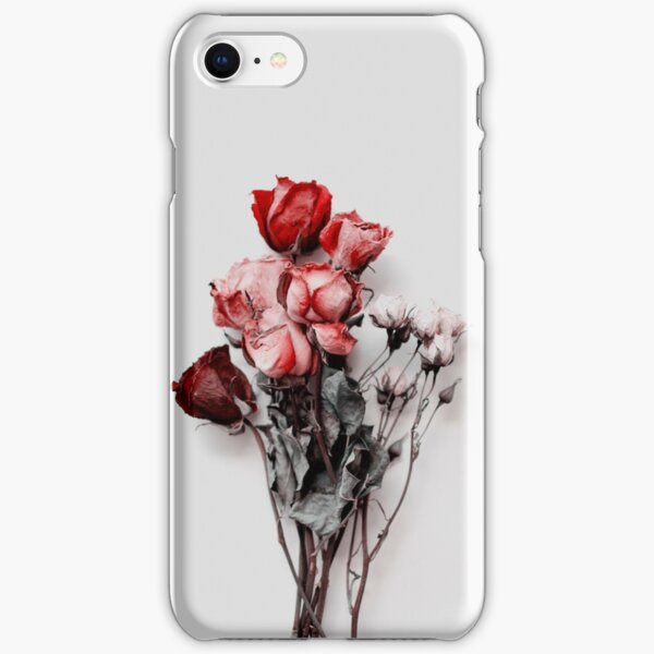 Dried Floral Bouquet on Light Background - Pink Minimal Aesthetics iPhone Snap Case