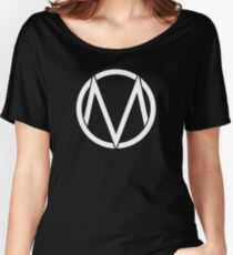 The Maine - Band  Logo White Women's Relaxed Fit T-Shirt