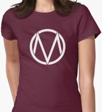 The Maine - Band  Logo White Women's Fitted T-Shirt