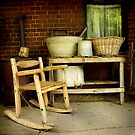 Wash tubs ~ Living Museum, Junee NSW by Rosalie Dale