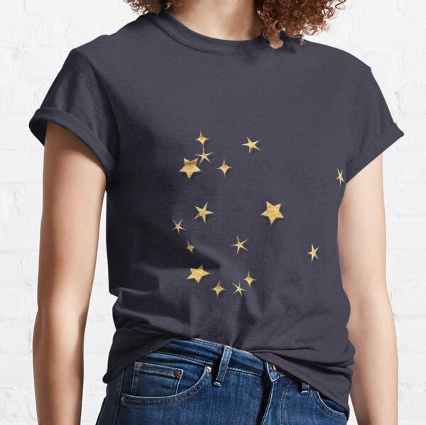 Aquarius Golden Stars Constellation Classic T-Shirt