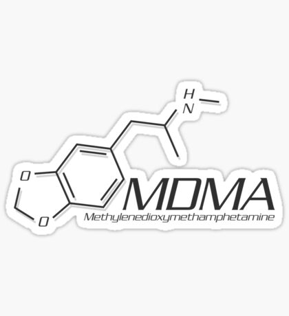 MDMA Molecule Sticker
