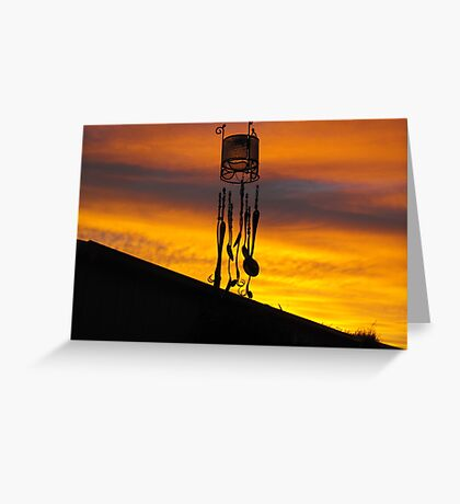 Chimes in silhouette Greeting Card