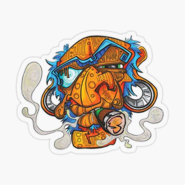 Orange Man Transparent Sticker