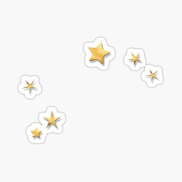 Aries Golden Stars Constellation Sticker