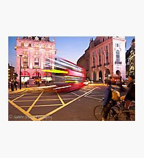 London Piccadilly circus at night Photographic Print