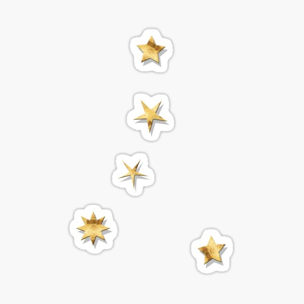 Cancer Golden Stars Constellation Sticker