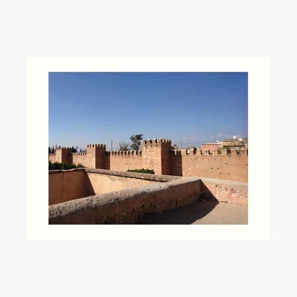 Taroudant city walls, Morocco  Art Print