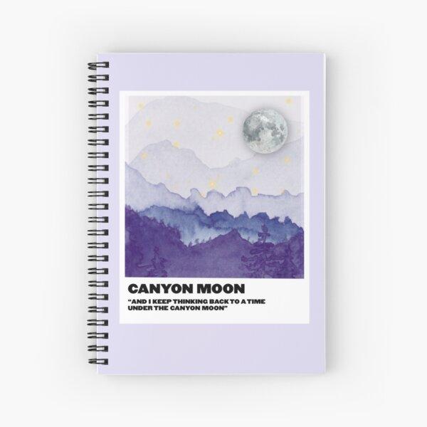 canyon moon polaroid Spiral Notebook