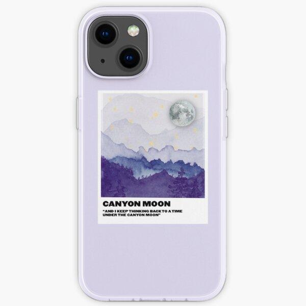 Polaroid lune canyon Coque souple iPhone