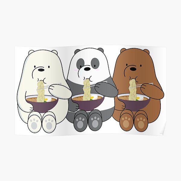 Wir entblößen Bären Poster