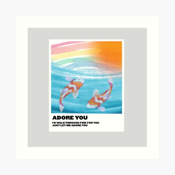 adore you polaroid Art Print