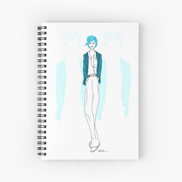 Modezeichnung Blaue Lady Spiralblock