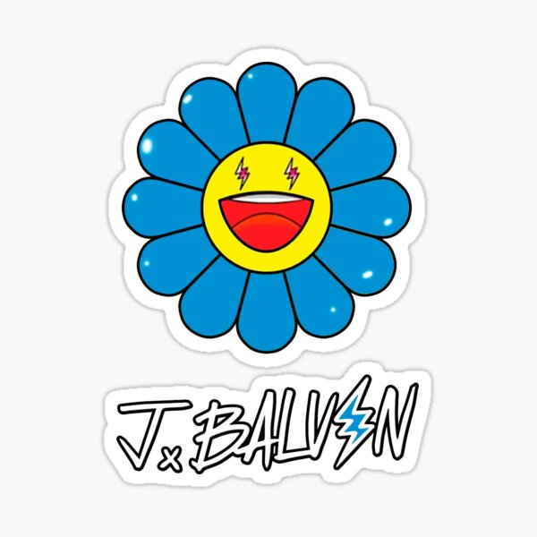 Arcoiris\Blue, Azul- J Balvin (Jeismary Rivera) Pegatina