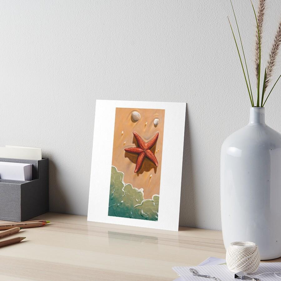 Starfish On The Beach Art Board Print