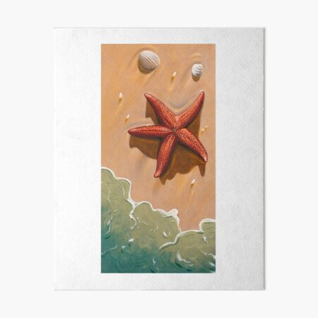Starfish On The Beach Art Board Print