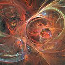 Abstract galaxy by Fractal artist Sipo Liimatainen
