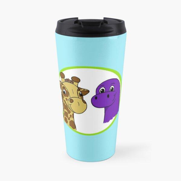 Herbie and Saurus on Aqua Travel Mug