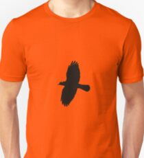 Jackdaw In Flight Silhouette Unisex T-Shirt