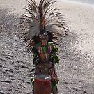 Aztec Drummer at the Beach by PtoVallartaMex