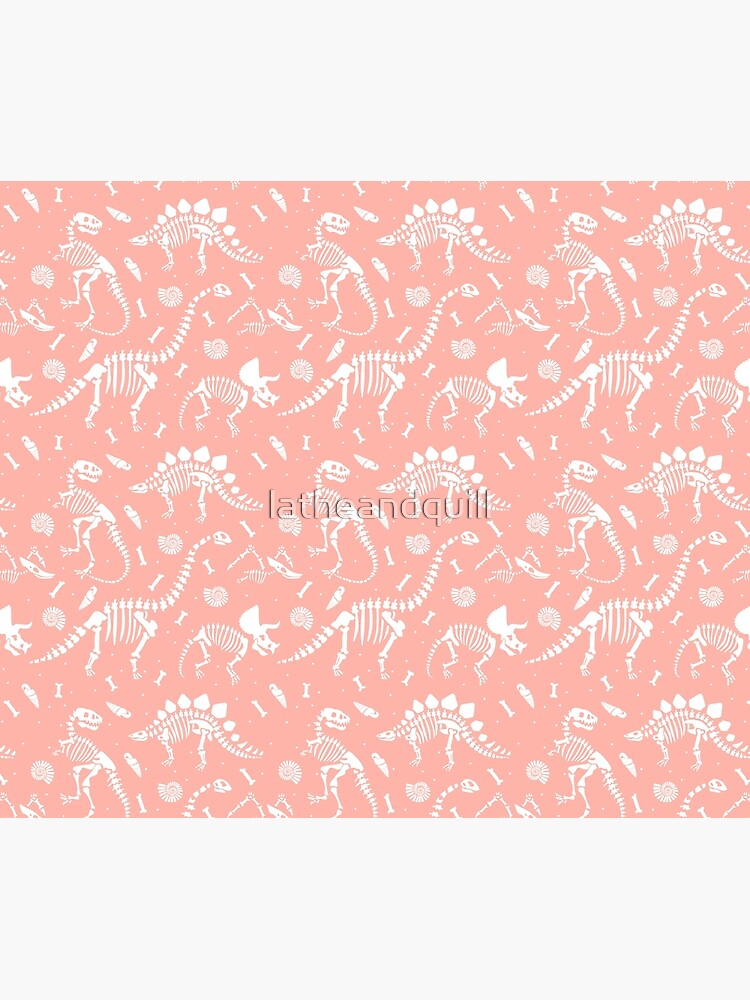 Dinosaurs Fossils on Pink by latheandquill