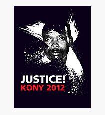 JUSTICE! KONY 2012 Photographic Print