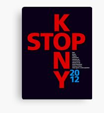 STOP KONY.2 2012 Canvas Print
