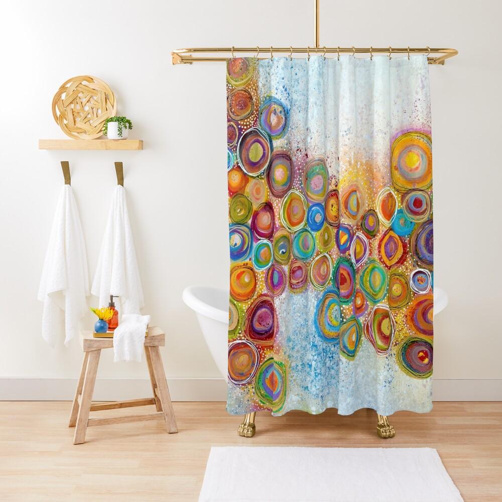A Garden Shower Curtain