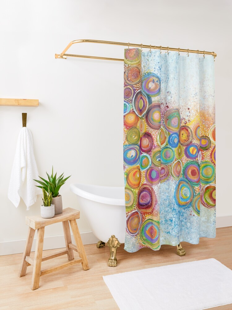 Alternate view of A Garden Shower Curtain