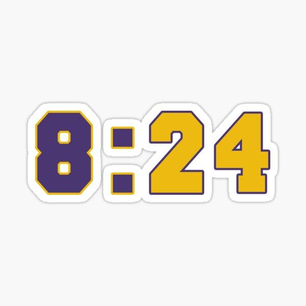 Kobe 8:24 Basketball Legend Simple Graphic Sticker, Rest In Peace Kobe Bryant Sticker
