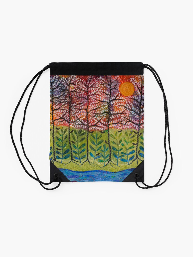 "Alternate view of ""Love is Energetic"" Drawstring Bag"