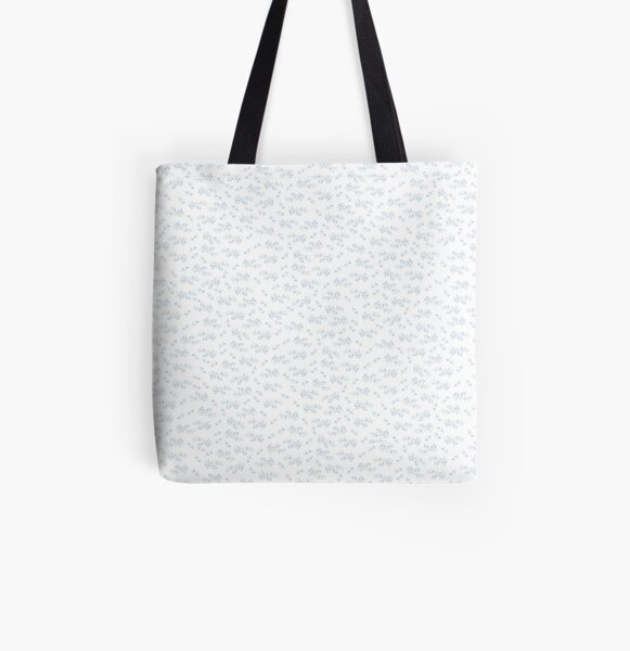 Blaue Rosen Allover-Print Tote Bag