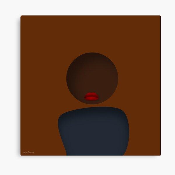 Orange Brunette Canvas Print