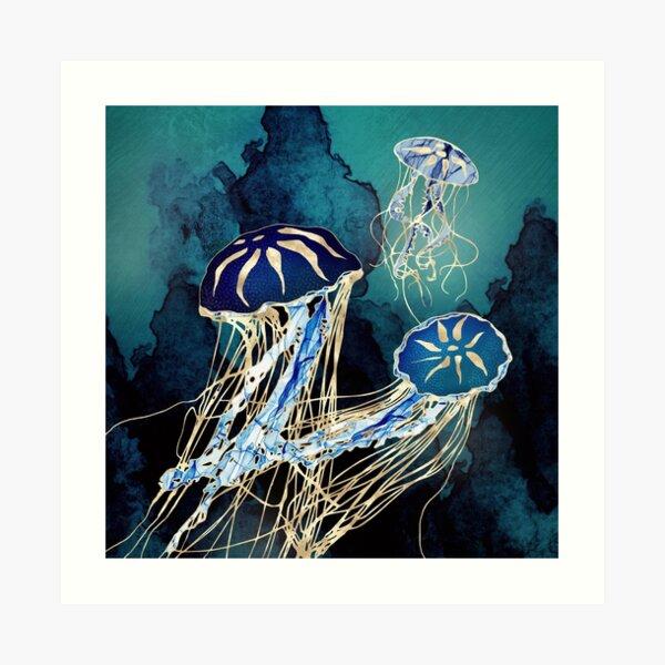 Metallic Jellyfish III Art Print