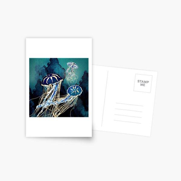 Metallic Jellyfish III Postcard