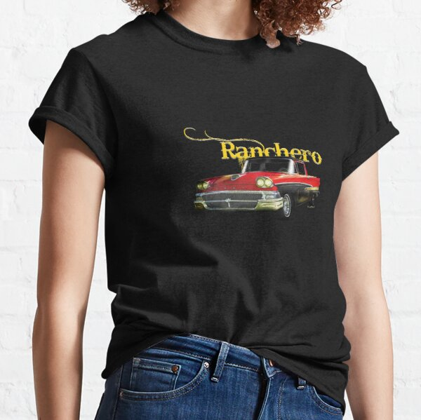 Custom Car Art T-Shirt 1970 1971 Ranchero 500 GT Squire not affiliated with ford