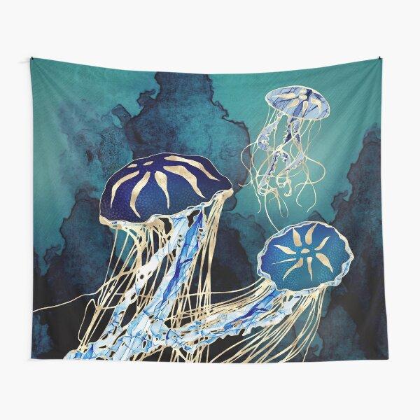Metallic Jellyfish III Tapestry