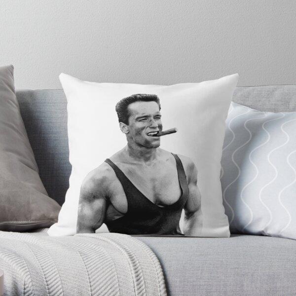 Arnold Schwarzenegger Cigar Throw Pillow