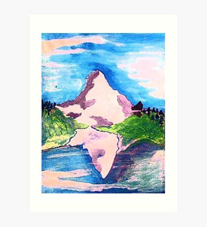 Matterhorn, watercolor Art Print
