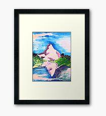 Matterhorn, watercolor Framed Print