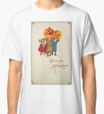 Kids With Decorations (Vintage Halloween Card) Classic T-Shirt
